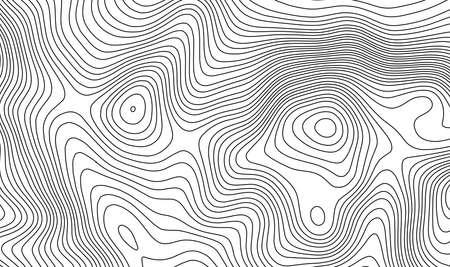 Topographic map contour template. Illustration