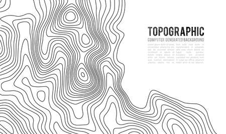 Topographic map contour illustration. Ilustração
