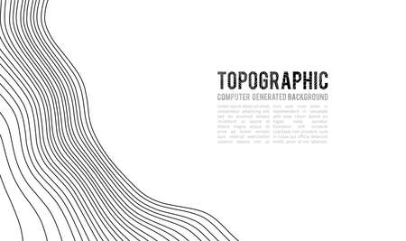 Topographic map contour background. Topo map with elevation. Contour map vector. Geographic World Topography map grid abstract vector illustration . Mountain hiking trail line map design . Ilustração