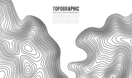 Topographic map contour background. Topo map with elevation. Contour map vector. Geographic World Topography map grid abstract vector illustration . Mountain hiking trail line map design . Reklamní fotografie