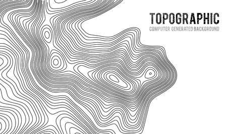 Mapa topográfico contorno de fondo. Mapa topográfico con elevación. Vector de mapa de contorno Ejemplo geográfico del vector del extracto de la rejilla del mapa de la topografía del mundo.