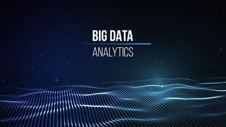 Big data visualization connection background. Cyber technology tech wire network futuristic wire frame data visualization. Vettoriali