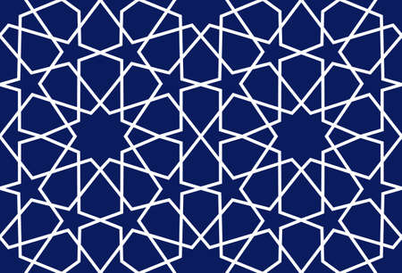 Background with seamless pattern islamic style illustration.