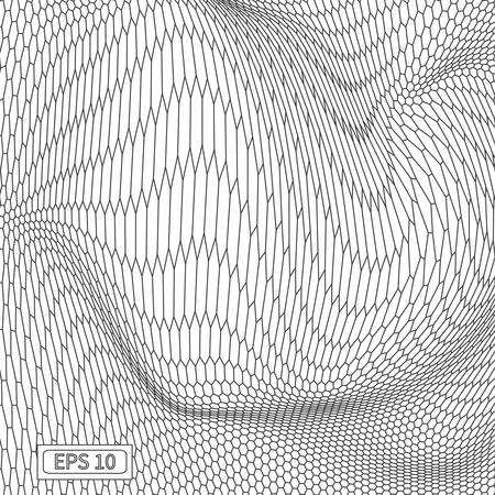 Abstract vector wire frame landscape background. Cyberspace grid 3d technology wire frame vector illustration. Digital wire frame landscape for presentations.