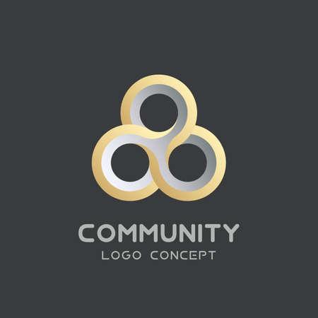Community union group triple icon.