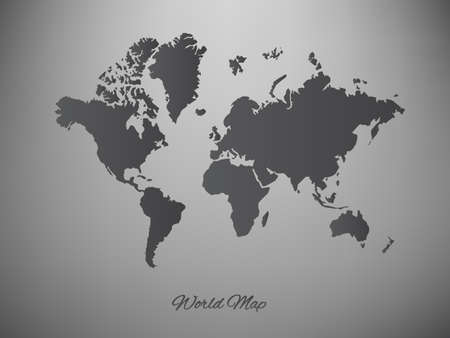 paper world map on a white background