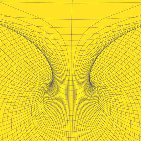 Wireframe torus with connected lines and dots . Mesh polygonal element. V