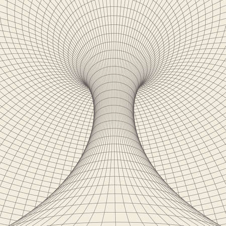 Wireframe torus with connected lines and dots . Mesh polygonal element.