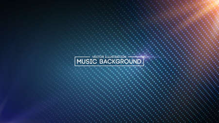 Music abstract background blue. Equalizer for music, showing sound waves with music waves, music background equalizer vector concept. Eps10 vector illustration. Illustration