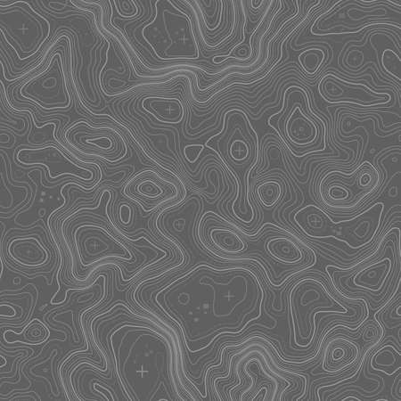 Seamless pattern. Topographic map background with space for copy Seamless texture. Line topography map contour background , geographic grid . Mountain hiking trail .