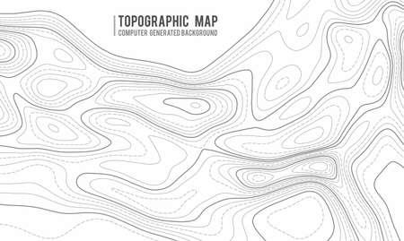 Hintergrund der topografischen Karte. Topo-Karte mit Höhenangaben. Konturkarte Vektor. Geographische Welttopographie Karte Raster abstrakte Vektor-Illustration. Vektorgrafik
