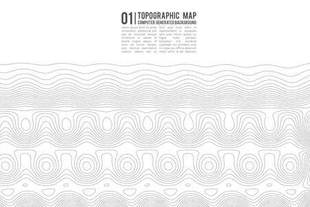 Topographic map contour background. Topo map with elevation. Contour map vector. Geographic World Topography map grid abstract . Illustration