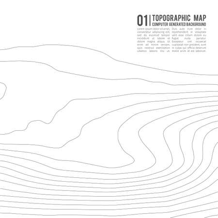 Topographic map contour background. Topo map with elevation. Contour map vector. Geographic World Topography map grid abstract vector illustration . Reklamní fotografie - 105546649