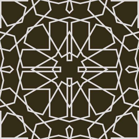 Seamless islamic pattern 3d . Traditional Arabic design.
