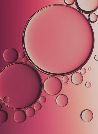 Oil Bubbles Isolated on White Background, Closeup Collagen Emulsion in Water. Illustration. Gold Serum Droplets.