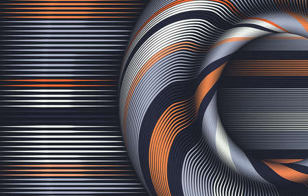 Abstract colorful string lines background . Vector Illustration .