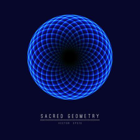 Sacred geometry line element flower of life . illustration . Reklamní fotografie
