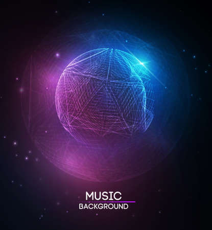 Music abstract background blue. Equalizer for music, showing sound waves with music waves, music background equalizer vector Illustration