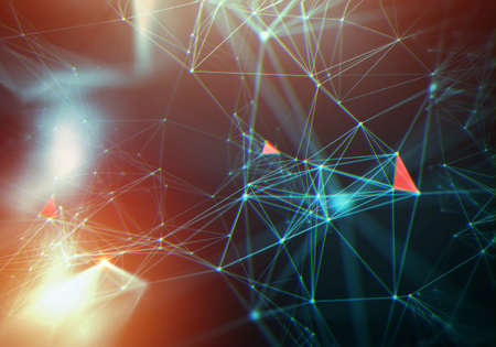 abstract network background. Futuristic technology style. Neon Sign . HUD Element . Elegant . Big data visualization .
