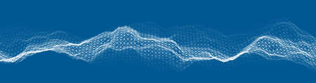 Music abstract background blue. Equalizer for music, showing sound waves with music waves, music background equalizer