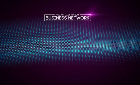 Business network technology. Internet growth and technology network.