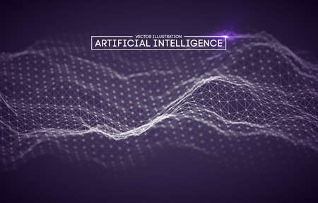 Artificial intelligence automation technology background. Augmented reality vector design. Vector Eps 10