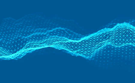 Woice wave background EPS 10 Vector. Abstract sound wave vector. Woman voice pulse. Illustration
