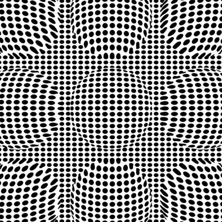 Optical illusion lines background. EPS 10 Vector illustration Ilustração