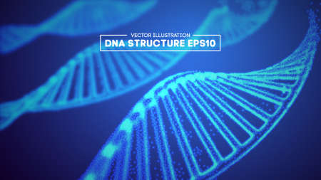 Genome dna vector illustration. DNA structure EPS 10. Genome sequencing concept of gmo and genome editing. Pharmaceutical chemistry and dna research. Biotechnology of molecule connection .