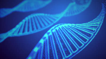 Ilustración de vector de ADN genoma. Estructura del ADN EPS 10. Concepto de secuenciación del genoma de OMG y edición del genoma. Investigación de la química farmacéutica y del adn. Biotecnología de la conexión de moléculas. Ilustración de vector