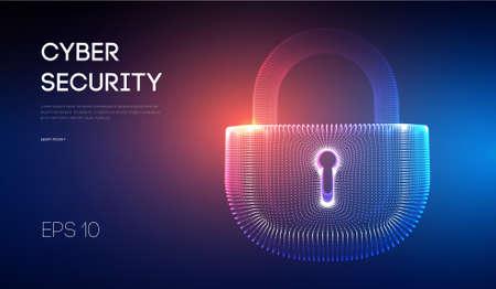 Coputer internet cyber security background. Cyber crime vector illustration. digital lock vector illustration .