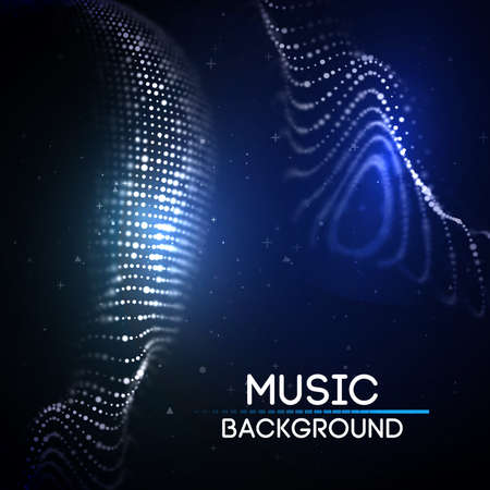 Music abstract background blue. Equalizer for music, showing sound waves with music waves, music background equalizer vector.
