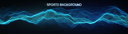 Sport background vector illustration. Mixed media run, soccer website background. Soccer website background.