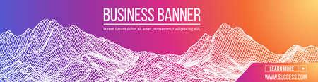 Computer vector banner. Business banner design