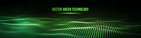 Green technology background. Futuristic vector illustration. Big data. Banco de Imagens - 126366883