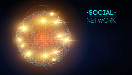 Social network media global. People communication and information sharing 3d web isometric illustration. Infographic concept vector. Network connection, business.