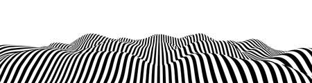 Optical illusion lines background. Abstract 3d black and white illusions. EPS 10 Vector illustration.