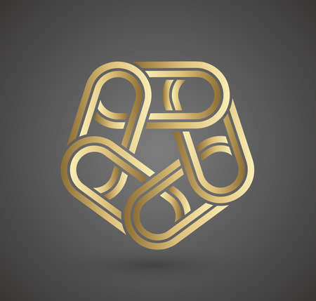 Gold logo design. Vector sign for business company. Luxury gold sign.