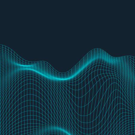 Fluid style geometric background - Futuristic minimal gradient template