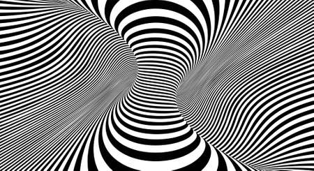 Optical illusion lines background. EPS 10 Vector illustration Banco de Imagens - 124345990