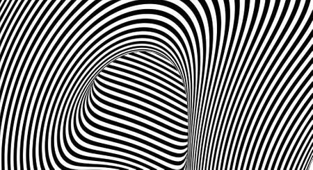 Optical illusion lines background. EPS 10 Vector illustration Ilustração