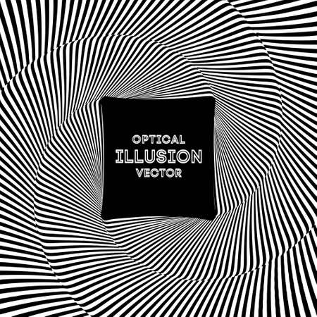 Optical illusion lines background. EPS 10 Vector illustration Banco de Imagens - 124345992