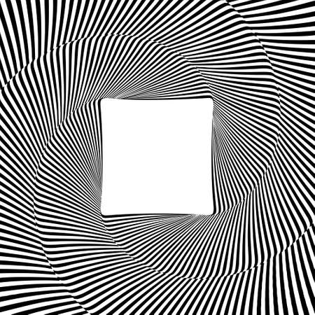 Optical illusion lines background. EPS 10 Vector illustration Banco de Imagens - 124345993