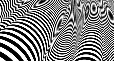 Optical illusion lines background. EPS 10 Vector illustration Stock Illustratie
