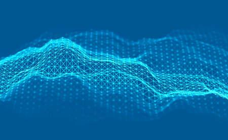 Woice wave background EPS 10 Vector. Abstract sound wave vector. Woman voice pulse. Banco de Imagens - 124310300