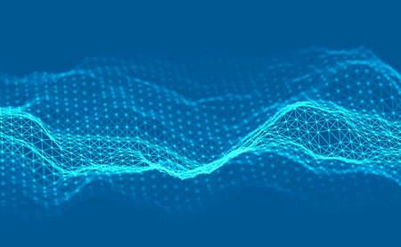 Woice wave background EPS 10 Vector. Abstract sound wave vector. Woman voice pulse. Ilustração