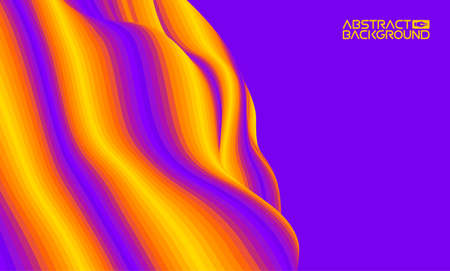 Colorful wave background digital. Design of colour art texture. Shape background abstract brochure cover. Banco de Imagens - 124152819