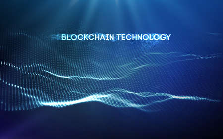 EPS 10. Blockchain technology background. Cryptocurrency fintech block chain network and programming concept.