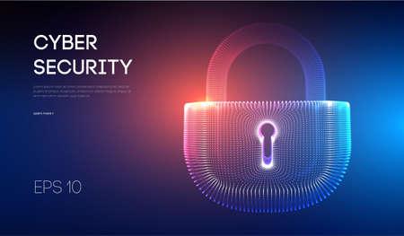 Coputer internet cyber security background. Cyber crime vector illustration. digital lock vector illustration . Stockfoto - 123111555