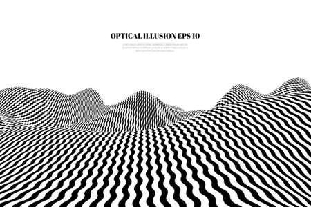 Optical illusion lines background. EPS 10 Vector illustration Foto de archivo - 123067150
